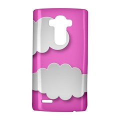 Clouds Sky Pink Comic Background Lg G4 Hardshell Case