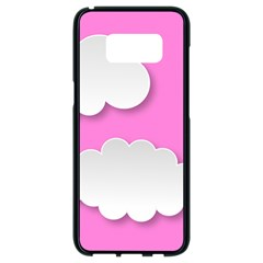 Clouds Sky Pink Comic Background Samsung Galaxy S8 Black Seamless Case