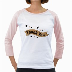 Thank You Lettering Thank You Ornament Banner Girly Raglans