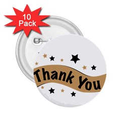 Thank You Lettering Thank You Ornament Banner 2 25  Buttons (10 Pack)