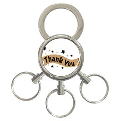 Thank You Lettering Thank You Ornament Banner 3 Ring Key Chains