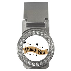 Thank You Lettering Thank You Ornament Banner Money Clips (cz)
