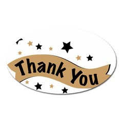 Thank You Lettering Thank You Ornament Banner Oval Magnet