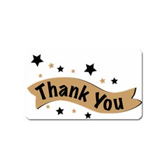 Thank You Lettering Thank You Ornament Banner Magnet (name Card)