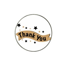 Thank You Lettering Thank You Ornament Banner Hat Clip Ball Marker (4 Pack)