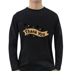 Thank You Lettering Thank You Ornament Banner Long Sleeve Dark T Shirts