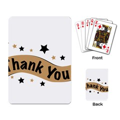 Thank You Lettering Thank You Ornament Banner Playing Card
