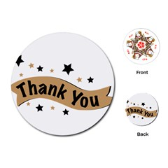 Thank You Lettering Thank You Ornament Banner Playing Cards (round)