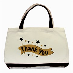 Thank You Lettering Thank You Ornament Banner Basic Tote Bag
