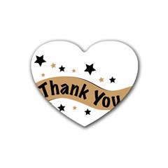 Thank You Lettering Thank You Ornament Banner Heart Coaster (4 Pack)