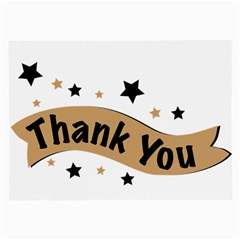 Thank You Lettering Thank You Ornament Banner Large Glasses Cloth (2 Side)