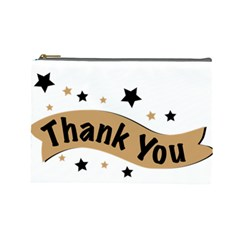Thank You Lettering Thank You Ornament Banner Cosmetic Bag (large)