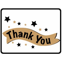 Thank You Lettering Thank You Ornament Banner Fleece Blanket (large)