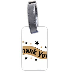 Thank You Lettering Thank You Ornament Banner Luggage Tags (two Sides)