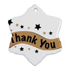 Thank You Lettering Thank You Ornament Banner Snowflake Ornament (two Sides)