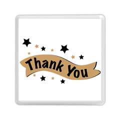 Thank You Lettering Thank You Ornament Banner Memory Card Reader (square)