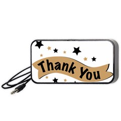Thank You Lettering Thank You Ornament Banner Portable Speaker
