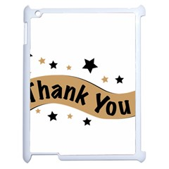 Thank You Lettering Thank You Ornament Banner Apple Ipad 2 Case (white)