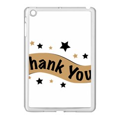 Thank You Lettering Thank You Ornament Banner Apple Ipad Mini Case (white)