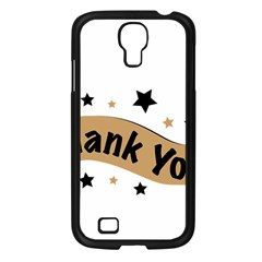 Thank You Lettering Thank You Ornament Banner Samsung Galaxy S4 I9500/ I9505 Case (black)