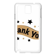 Thank You Lettering Thank You Ornament Banner Samsung Galaxy Note 3 N9005 Case (white)
