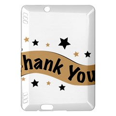 Thank You Lettering Thank You Ornament Banner Kindle Fire Hdx Hardshell Case