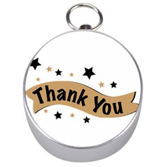 Thank You Lettering Thank You Ornament Banner Silver Compasses