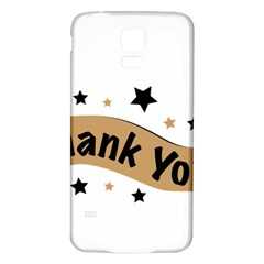 Thank You Lettering Thank You Ornament Banner Samsung Galaxy S5 Back Case (white)