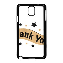 Thank You Lettering Thank You Ornament Banner Samsung Galaxy Note 3 Neo Hardshell Case (black)
