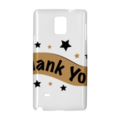 Thank You Lettering Thank You Ornament Banner Samsung Galaxy Note 4 Hardshell Case