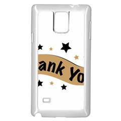 Thank You Lettering Thank You Ornament Banner Samsung Galaxy Note 4 Case (white)