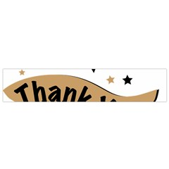 Thank You Lettering Thank You Ornament Banner Small Flano Scarf
