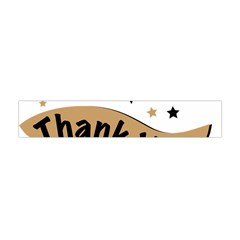 Thank You Lettering Thank You Ornament Banner Flano Scarf (mini)