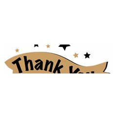 Thank You Lettering Thank You Ornament Banner Satin Scarf (oblong)