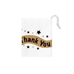 Thank You Lettering Thank You Ornament Banner Drawstring Pouches (xs)