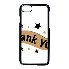 Thank You Lettering Thank You Ornament Banner Apple Iphone 7 Seamless Case (black)