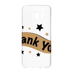Thank You Lettering Thank You Ornament Banner Samsung Galaxy S8 Hardshell Case