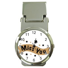 Lettering Miss You Banner Money Clip Watches