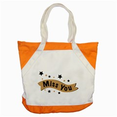 Lettering Miss You Banner Accent Tote Bag