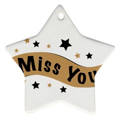 Lettering Miss You Banner Star Ornament (two Sides)