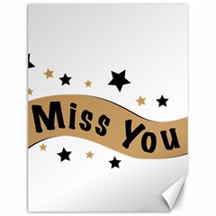 Lettering Miss You Banner Canvas 12  X 16