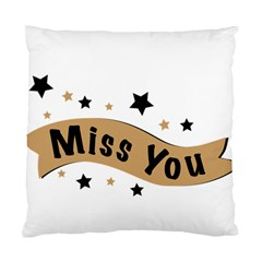 Lettering Miss You Banner Standard Cushion Case (one Side)