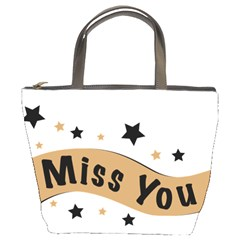 Lettering Miss You Banner Bucket Bags