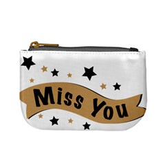 Lettering Miss You Banner Mini Coin Purses