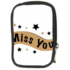 Lettering Miss You Banner Compact Camera Cases