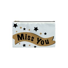 Lettering Miss You Banner Cosmetic Bag (small)