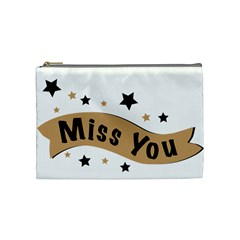 Lettering Miss You Banner Cosmetic Bag (medium)