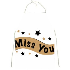 Lettering Miss You Banner Full Print Aprons