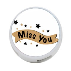 Lettering Miss You Banner 4 Port Usb Hub (two Sides)