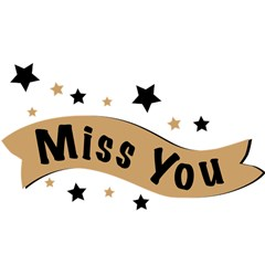 Lettering Miss You Banner Magic Photo Cubes